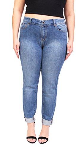 Celebrity Pink Women Folded Skinny Plus Size Jeans with Gold Stitch 12 Medium Denim