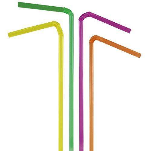 Decor Service Trinkhalme, Plastik, Bunt, Durchmesser 5 mm x 24 cm