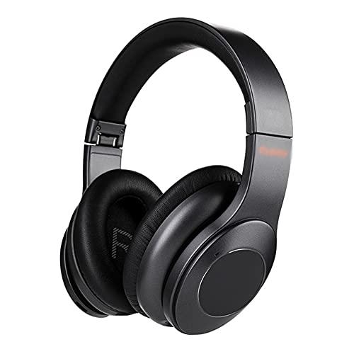 ZRL Cascos Gaming Auriculares Bluetooth sobre Oreja Bluetooth 5.0 Auriculares inalámbricos Micrófono HiFi Sound Foldable sobre Oreja Bluetooth Auriculares Headset (Color : Black)