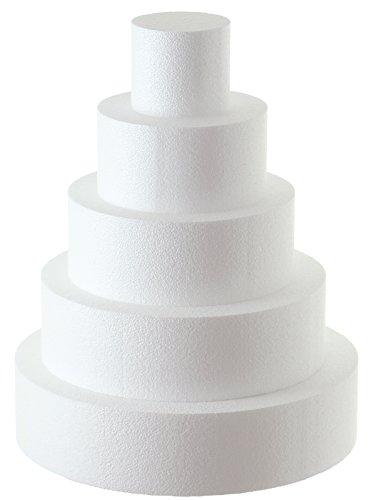 Sebutec Styropor-Torte Tortendummy 5-stöckig rund