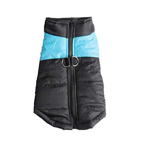 GELing Haustier Warmer Winter Kleidung Wasserdichter Hundemantel,Blau,S