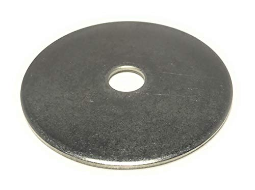 """1/2 ID x 3 OD Stainless Steel Fender Washer Large OD Flat Washers Extra Thick (1/8"""" Thick) (4 Pieces)"""
