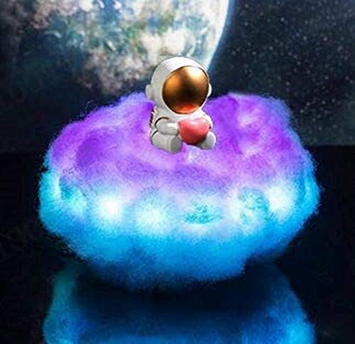 Creative LED Colorful Cloud Astronaut Lights with Rainbow Effect, Creative...