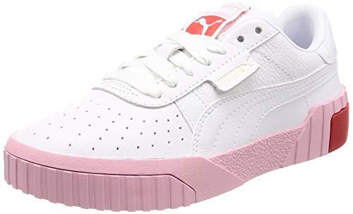 Puma Damen Cali WN\'s Sneaker, Weiß (Puma White-Pale Pink), 41 EU