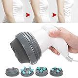 Dispositivo anticellulite elettrico professionale anti-cellulite per ridurre i grassi contro la cellulite con 4 massaggi alla testa(Rosso)