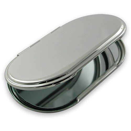 Select Gifts Miroir de sac à main ovale plaqué argent
