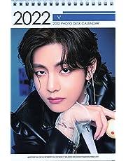 防弾少年団 BTS V テテ グッズ 卓上 カレンダー (写真集 カレンダー) 2022~2023年(2年分) + ステッカーシール [12点セット]