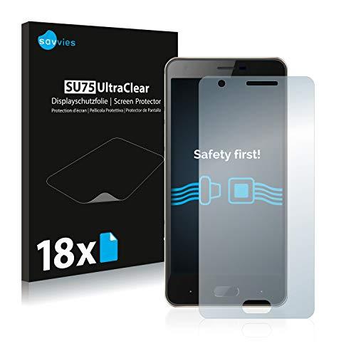 Savvies 18x Schutzfolie kompatibel mit Doogee X20L Bildschirmschutz-Folie Ultra-transparent