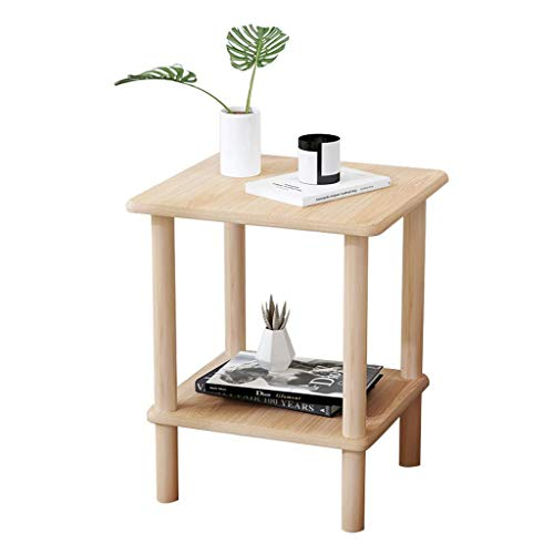 N/Z Home Equipment Small Square Table Creative Shelf Sofa Side Table Living Room Coffee Table Light Bedside Table Nesting Tables (Color : Natural Size : 48 Times 45 Times 53cm)