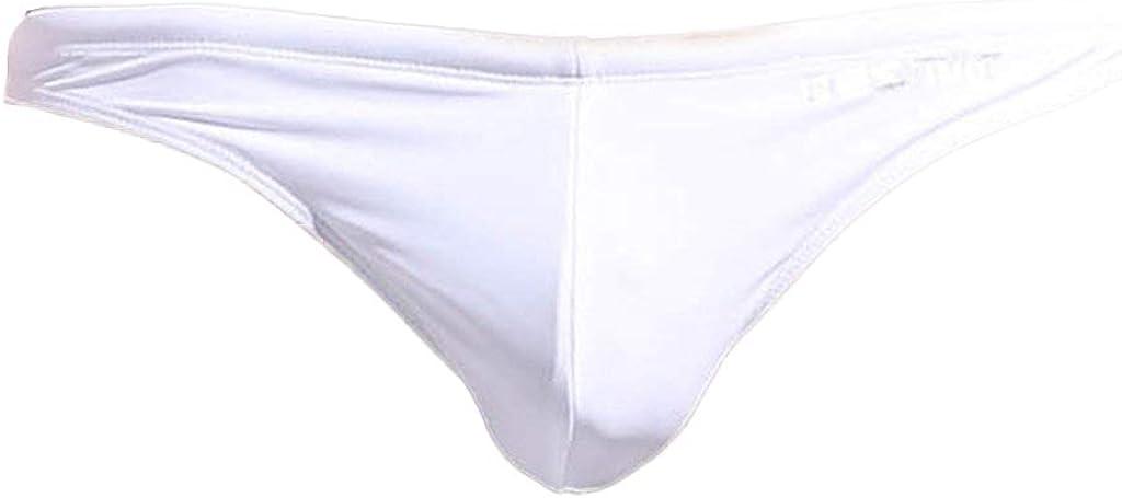 sandbank Men's Sexy Low Rise Mesh Thong Swim Briefs Drawstring Bikini Sport Swimsuit