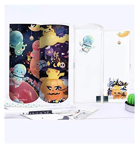 Papelería LMH - Caja de lápices multifuncional con calculadora de espejo de gran capacidad para niños y niñas, dispensadores portátiles (tamaño : fiesta)