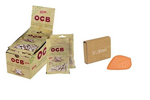 OCB Lot de 10 filtres fins fins organiques 6 mm + support pour humidificateur à tabac