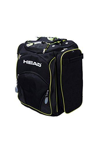 Head Heatable Bolsa para Botas, Black/Neon Yellow, 45x 40x 25cm, 40L