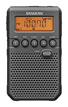 Sangean DT-800BK AM / FM / NOAA Weather Alert Rechargeable Pocket Radio  Black/Gray