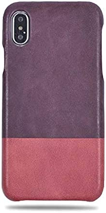 21c6148ff Kulor Cases iPhone Xs Max Leather Case (Purple & Crimson Red), Handmade  Premium