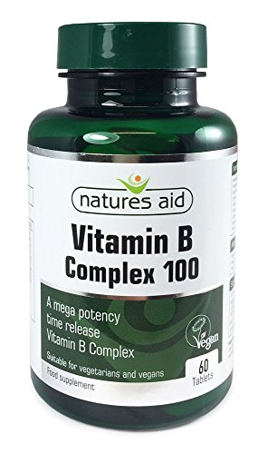 Natures Aid Vitamin B Complex 100 Time Release, 60 Tablets