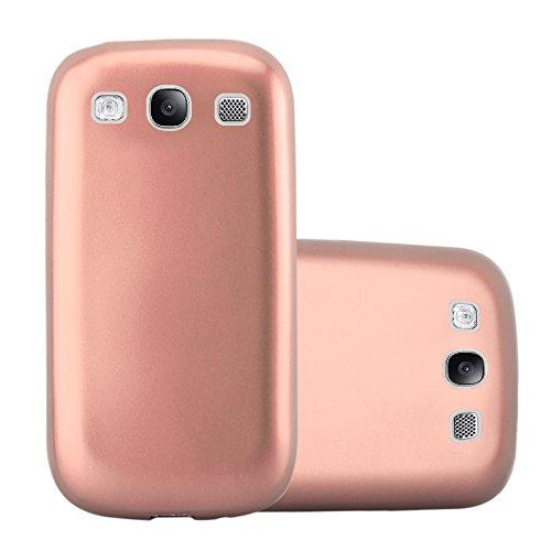 Cadorabo Custodia per Samsung Galaxy S3 / S3 NEO in ORO ROSA METALLICO - Morbida Cover Protettiva Sottile di Silicone TPU con Bordo Protezione - Ultra Slim Case Antiurto Gel Back Bumper Guscio