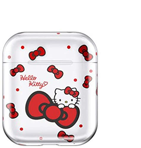 Case for Airpods 1 2 Wireless Bluetooth Earphone Case Colorful Candy PC Hard Cute Cover Box Case (C)