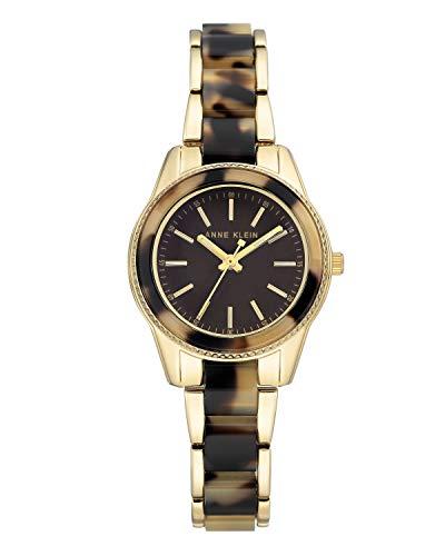 Anne Klein AK/3212TOGB - Reloj de pulsera analógico para mujer (mecanismo de cuarzo, correa de metal), color marrón