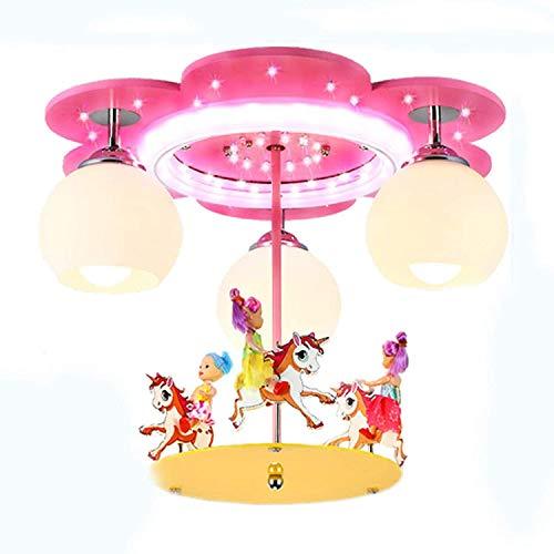LED Lampada Da Soffitto Per Camera Dei Bambini Lampadario A Giostra Camera Da Letto Moderna Lampada Da Soffitto Cartoni Animati Bambini Ragazze Lampada Soggiorno Decorazione Lampada A Sospensione