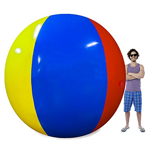 Sol Coastal The Beach Behemoth - Giant Inflatable Ball, 12 Foot Pole-to-Pole - Huge Jumbo Toys for Water Games - Big Family Fun for Swimming Pool Party