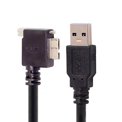 CY Micro USB Schroef Bevestiging aan 3.0 Data Kabel voor Industriële Camera 10Ft 16Ft 90 Degree Up Hoek Links Hoek Rechts Hoek 5.0M right angled