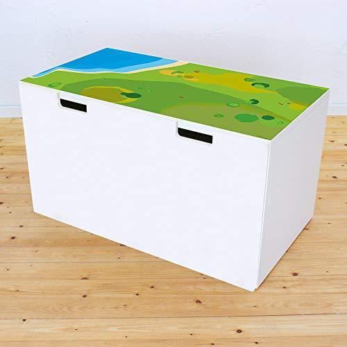 Limmaland Möbelaufkleber Spielwiese - passend für IKEA STUVA Banktruhe - Kinderzimmer Spieltisch - Möbel Nicht inklusive