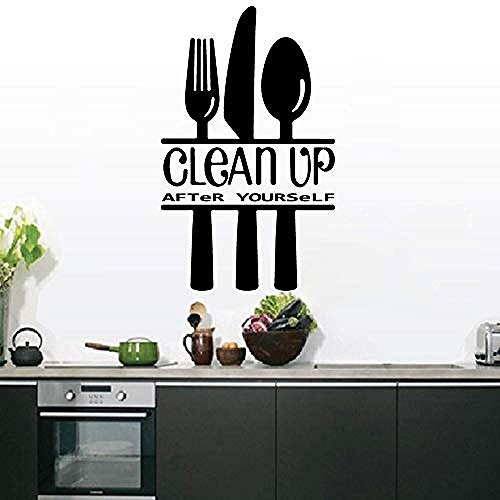 Moderne stijl schoon te maken na jezelf zelfklevende Vinyl Waterdichte muur Art Decal voor Home Decor Keuken Wanddecoratie 58 * 95Cm