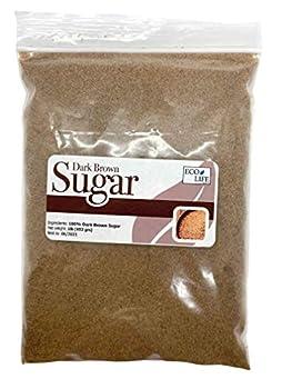 EcoLife Dark Brown Sugar for Baking and Cook Pure Cane Vegan Azúcar Morena 1 LB Vegan Brown Sugar Brown Sugar Granulated Morena Pure Cane Sugar Brown Sugar Baking Granulated Sugar for Baking.