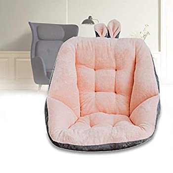 Comfort Semi-Enclosed One Seat Cushion for Office Chair Home Office PureZoneA Car Seat Cushion Chair Seat Pads Armchair Pads with Cute Ear Home Office Desk Chair Cushion Seat Cushion Pad Pink
