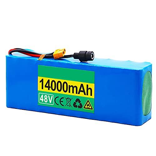 HLDUYIN 48V 14Ah 13S3P Li-Ion Paquete de baterías E-Bike 4Ebike Bicicleta eléctrica con Cargador Adecuado para Herramientas eléctricas, Modelos de Aviones,1000W de Alta Potencia