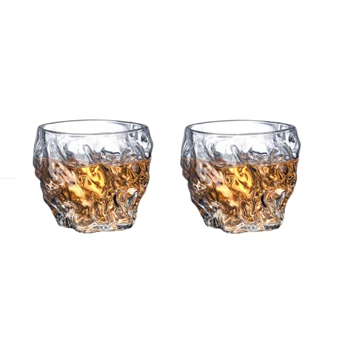 Paquete De 2 Vasos De Whisky con Martillo, Cristalería De Cóctel De Cristal Premium, Vasos De Degustación De Vidrio De Moda Antigua para Beber Winebowl