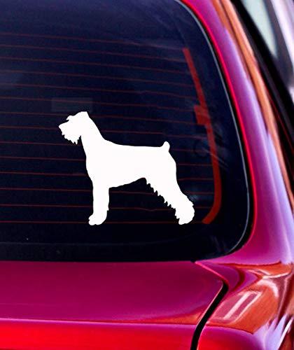 Adhesivo para coche de 14,2 x 12,7 cm, diseño de perro carauzer gigante