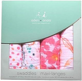 エイデンアンドアネイ おくるみ ブランケット 4枚セット ギフト 出産祝い ロイヤルベビー swaddle wrap (カラー:petal blooms) Aden+Anais [並行輸入品]