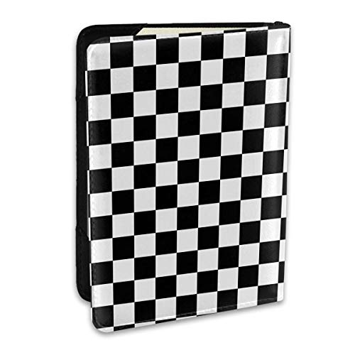 Checkerboard Chess Board Fashion Leather Passport Holder Cover Case Travel Wallet 6.5 In