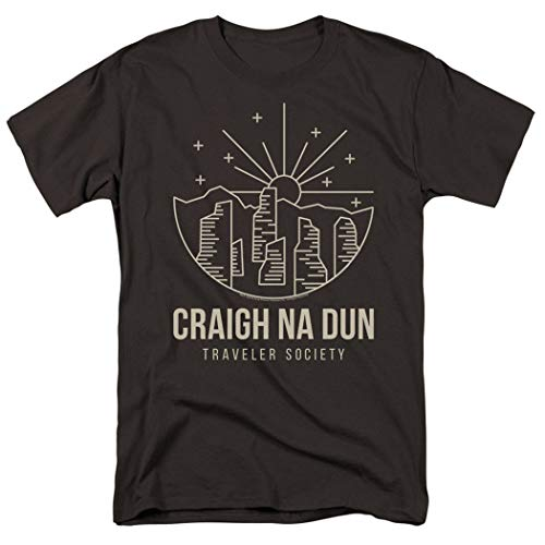 Popfunk Outlander Craigh Na Dun Traveler T Shirt & Stickers (X-Large) Charcoal