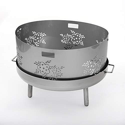 Czaja Feuerschalen® Funkenschutz Edelstahl Blume Ø 80 cm für eine Feuerschale