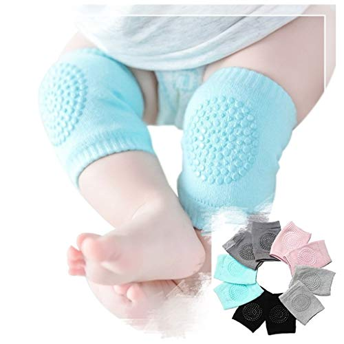 5 Pairs Kids non-slip crawling elbow baby toddler baby baby accessories smile knee protector safety knee pads leggings Baby Crawling Anti-Slip Knee, Unisex Baby Toddlers Kneepads