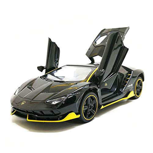 Alloy car model children's toy sound and light pull back car model simulation boy...