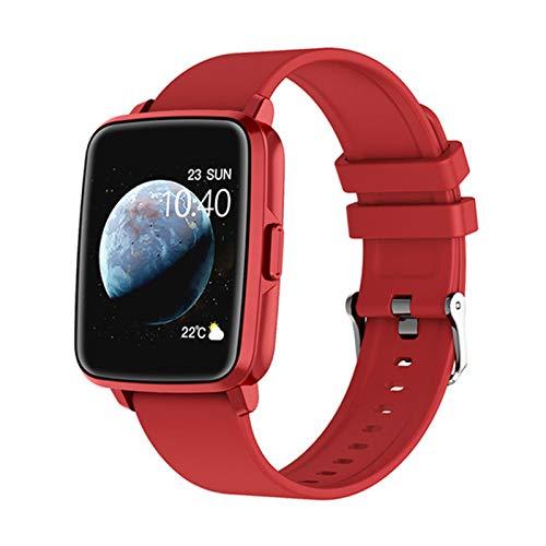 JXFF New Hombre Deportes SmartWatch Mensaje de Llamada Recordatorio Fitness Sleep Tracker Rastreador de Ritmo cardíaco para Mujer GPS Motion Track i68 Smartwatch para Android iOS,E