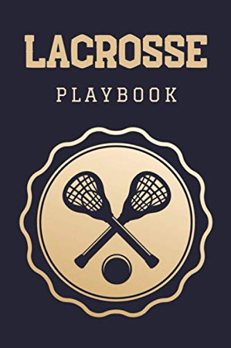 Lacrosse Playbook: Practical Lacrosse Game Coach Play Book | Coaching Notebook with Blank Field Diagrams for Drawing Up Plays, Drills, Planning Tactics & Strategy | Gift for Coaches & Team Players
