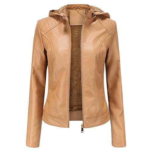 DISCOUNTL große Plus samt weiblichen Lederjacke mit Kapuze Freizeitjacke Jacke Damen Kurze jacken Damen Damen Leder jacken 3XL Oversize Jacke Damen Vintage Jacke Damen