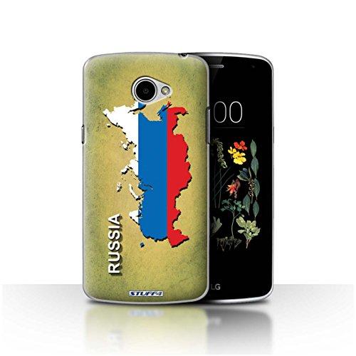 Hülle Für LG K5/X220 Flagge Land Russland/Russisch Design Transparent Ultra Dünn Klar Hart Schutz Handyhülle Hülle