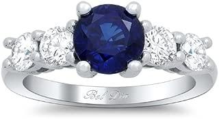 Bel Dia Sapphire and Diamond 5 Stone Engagement Ring