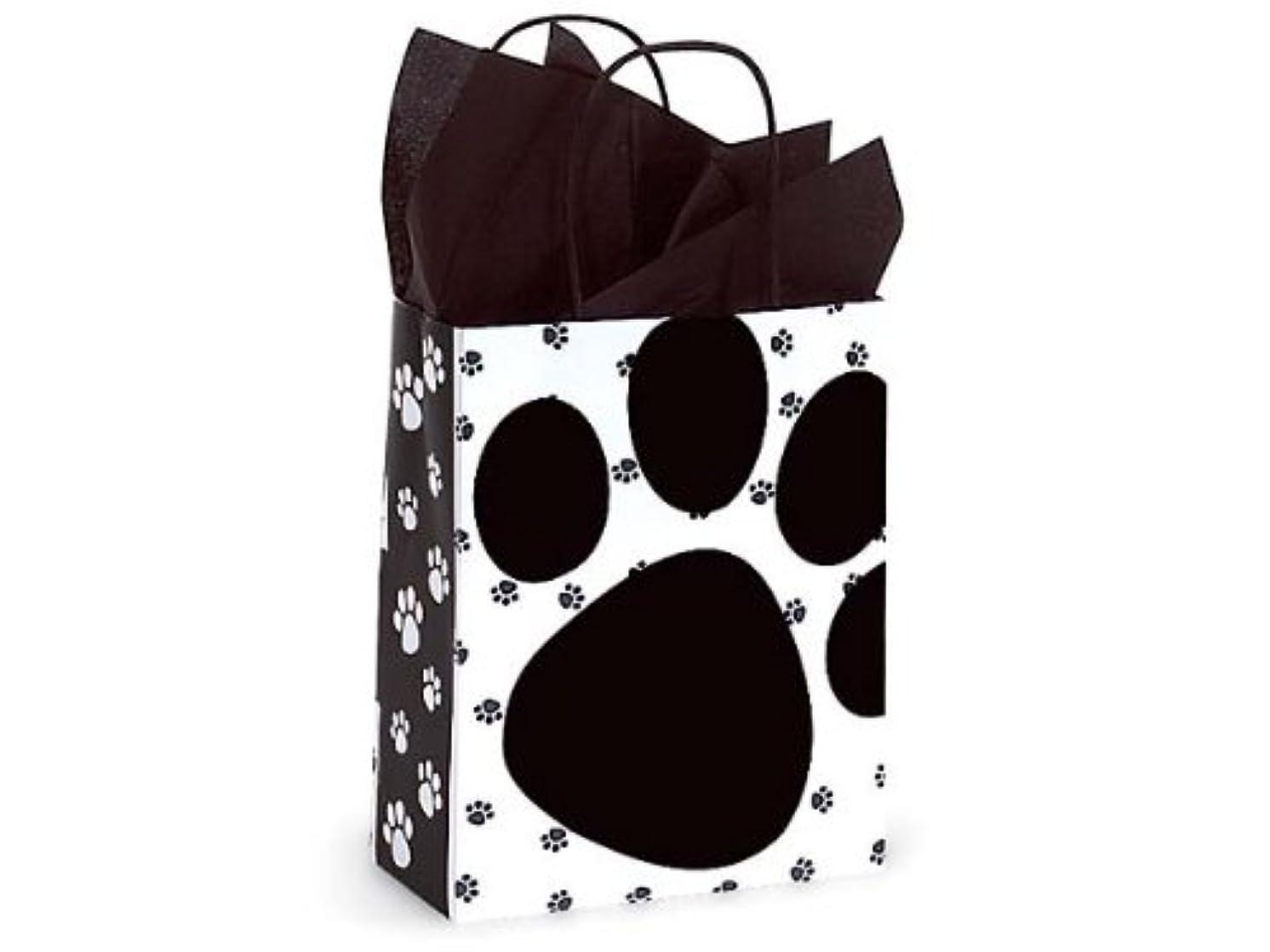 Pooch's Paw Doggie Print Paper Medium Shopper Gift Bag - Quantity of 5