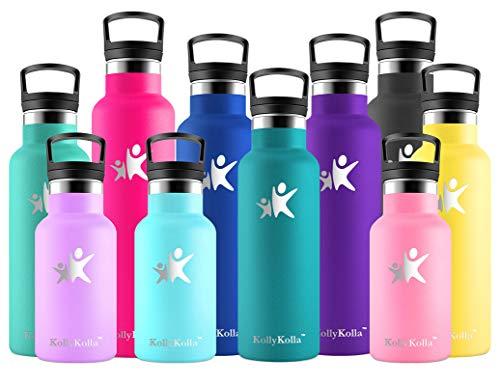 KollyKolla Gourde Inox Isotherme, Bouteille d'eau avec Paille & Filtre sans BPA, Isolation sous Vide en Acier Inoxydable…