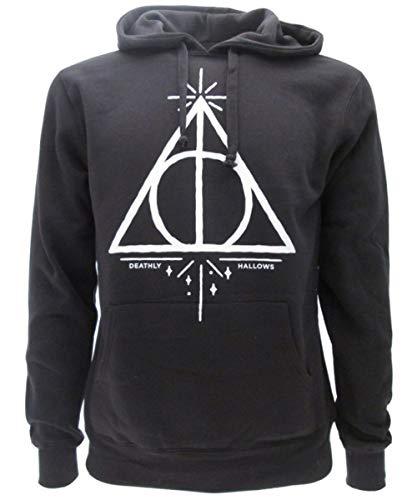 Harry Potter Felpa con Cappuccio Doni della Morte Deathly Hallows - Ufficiale Warner Bros (XXL)