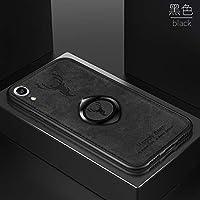 ケースIphone XR、布の質感 人気 tpu ソフトフレーム ステルスサポート機能 子鹿 携帯ケース、耐衝撃 衝撃吸収 薄型 おしゃれ かわいい キラキラ 全面保護 qi 充電 ワイヤレス充電 ユニーク カバー、可愛い 面白い クリスタル フラッシュ ケース、耐汚れ 滑り防止 反指紋 反塵 超軽量 カバー、by beautycatcher - 黑