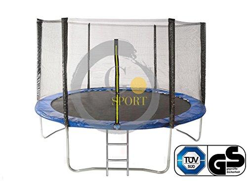 GOJUMP | Trampolino Elastico da Giardino Tappeto Elastico Esterno Sport con Rete di Sicurezza E SCALETTA - Φ 244 cm