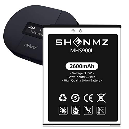 MHS900L Battery SHENMZ [2600mAh] Upgraded High Capacity Replacement Battery for Franklin Wireless MHS900L / Ellipsis Jetpack MHS900L PP [24 Month Service]